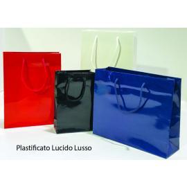 Luxury handbag in glossy laminated paper 16 + 8x24